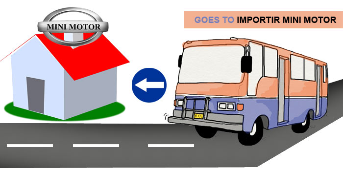 Petunjuk Arah Menuju Gudang Importir Mini Motor