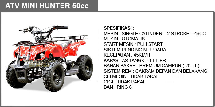 atv mini hunter 49cc