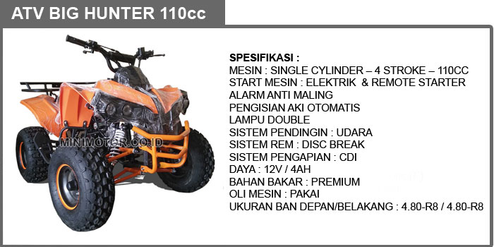 big hunter 110cc