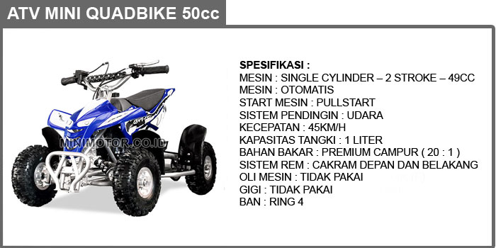 atv mini quadbike 49cc