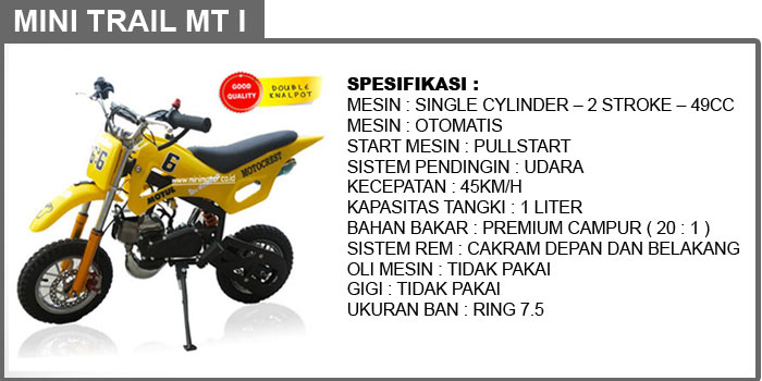 motor mini cross trail MT 1
