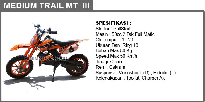 Medium trail 50cc MT3