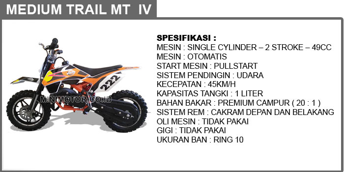 mini motor trail 49cc mt4 2 tak