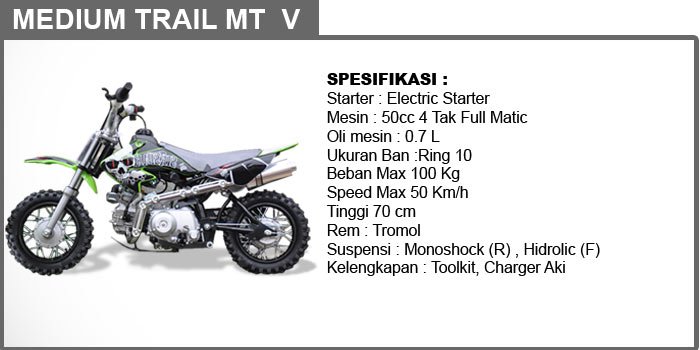 medium trail 50cc 4 tak MTv