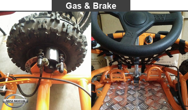 gas & brake gokart