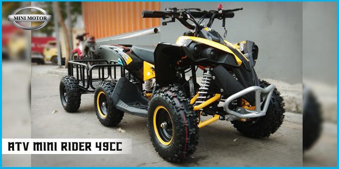 Pertama di Indonesia, ATV Mini 49cc Dengan Trailer unik